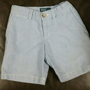 Polo by Ralph Lauren cotton chambray shorts 3T